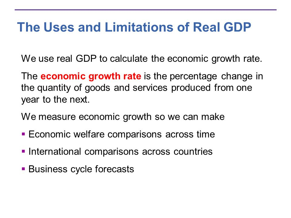 how to calculate percentage change in real gdp