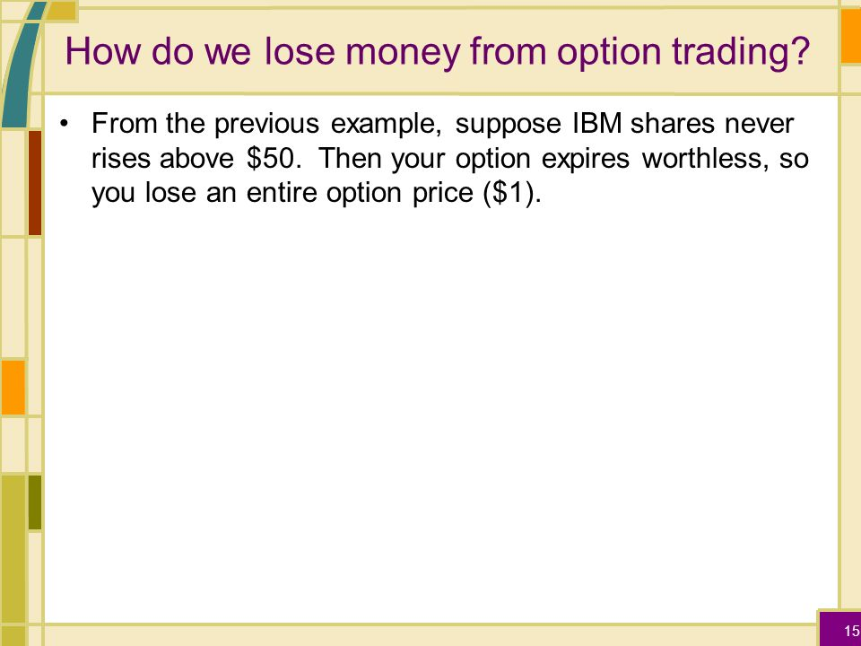 How do you play stock options