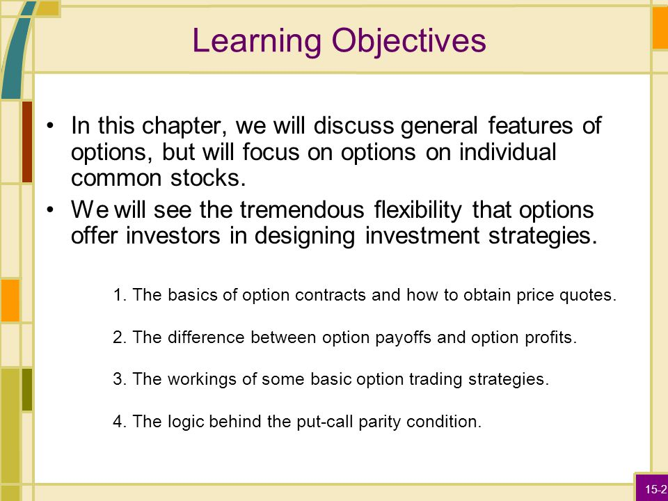 Options on individual stocks