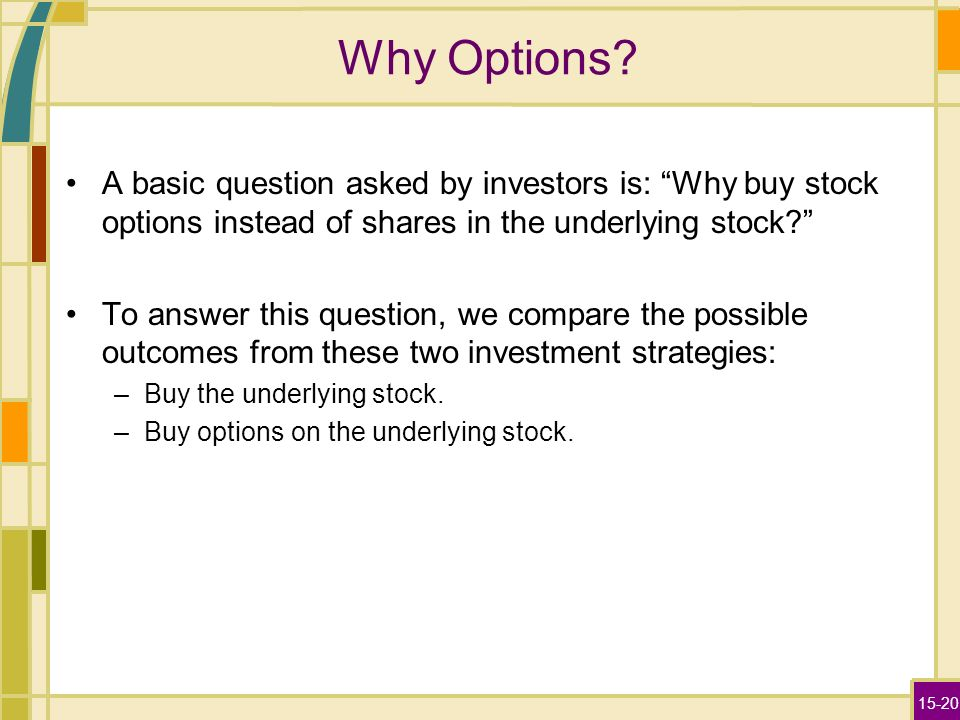 What are stock options yahoo answers