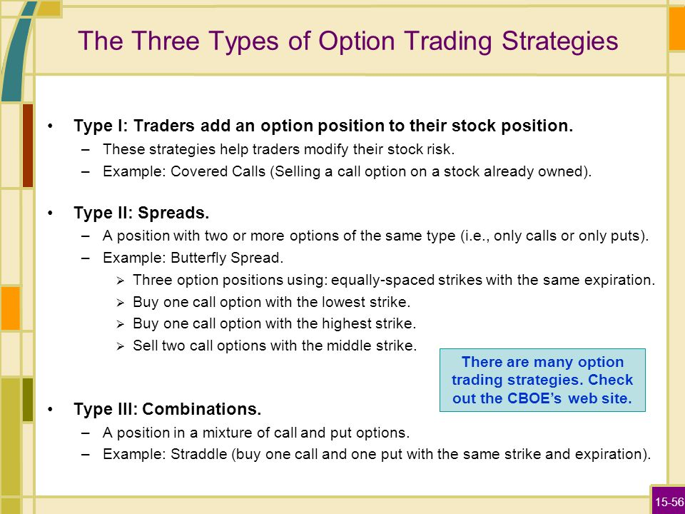 Types of option trading strategies