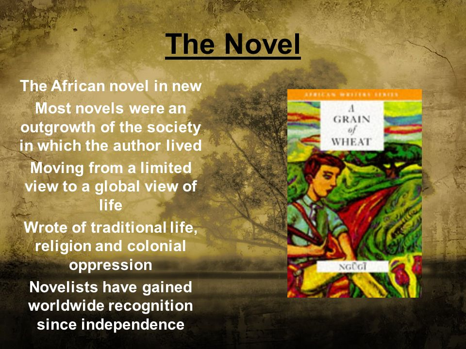 The Novel The African novel in new