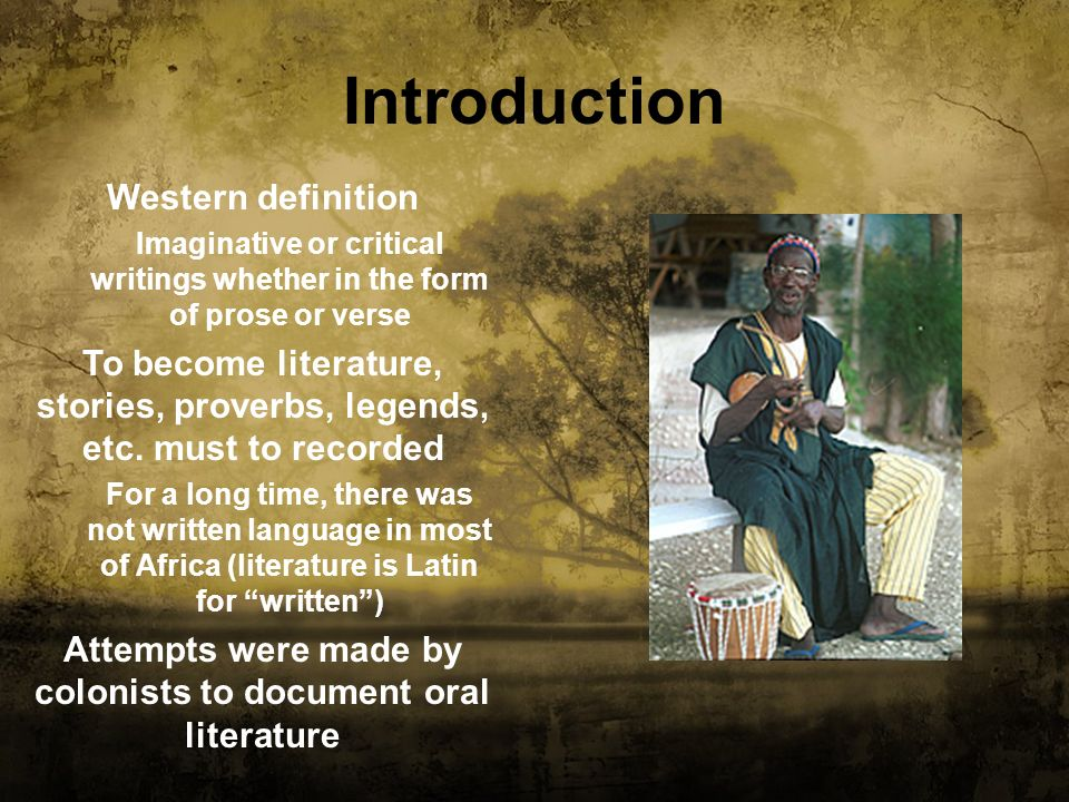 Introduction Western definition