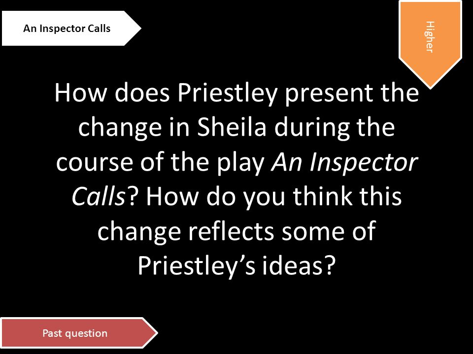 sheila change during essay An inspector calls - sheila essay 11x1 13,490 views share like download misshalls1 follow published on feb 9 how does priestley present the change in.