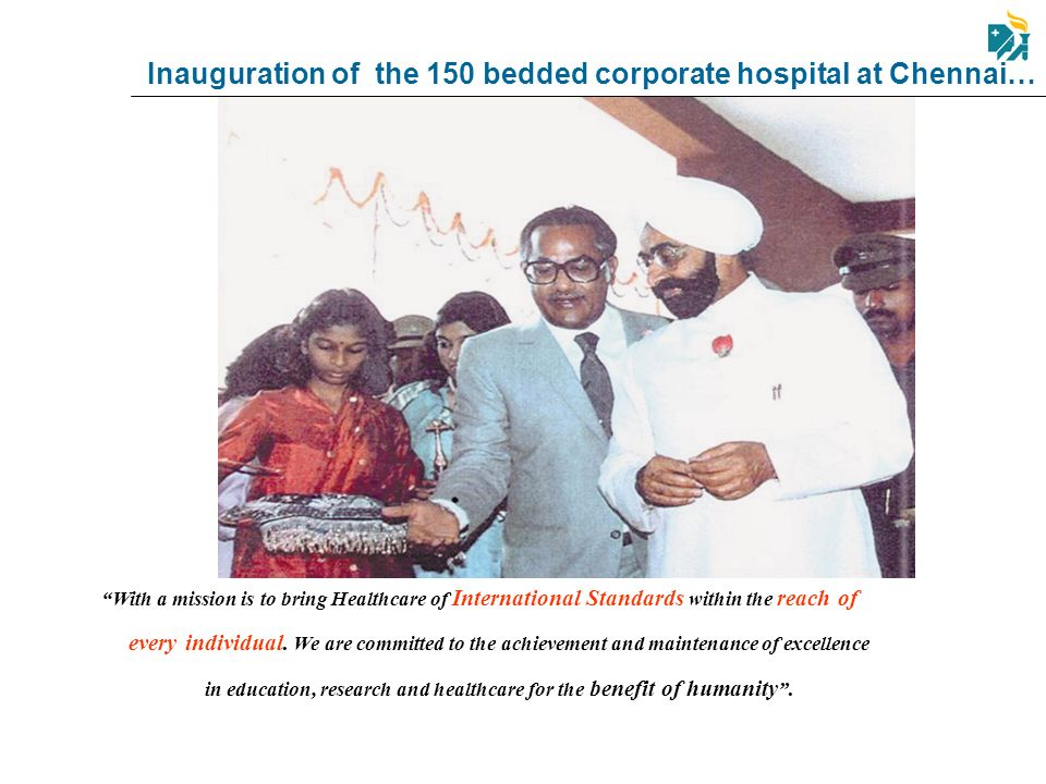Inauguration of the 150 bedded corporate hospital at Chennai…