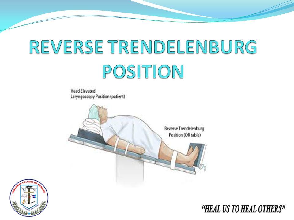 Reverse Trendelenburg Position Presented by, P...