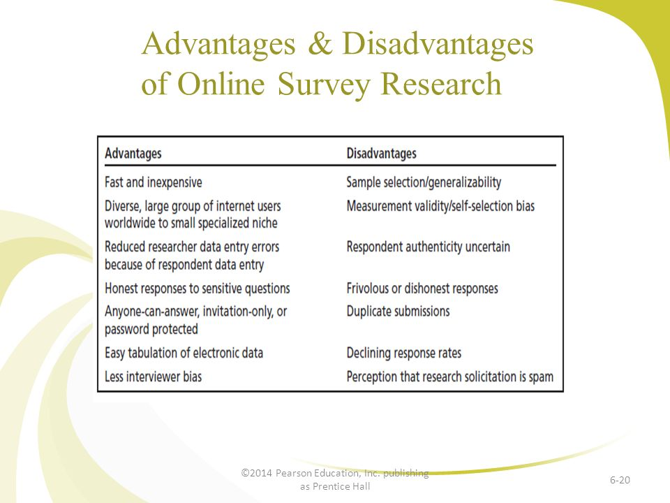 disadvantages of research One can learn much about a media production's policies, target audience, politics, and financial support content analysis becomes a more powerful tool when combined with other research methods such as interviews, observation, and use of archival records.