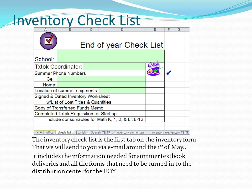 Year End Textbook Inventory Procedures  Ppt Downloadinventory