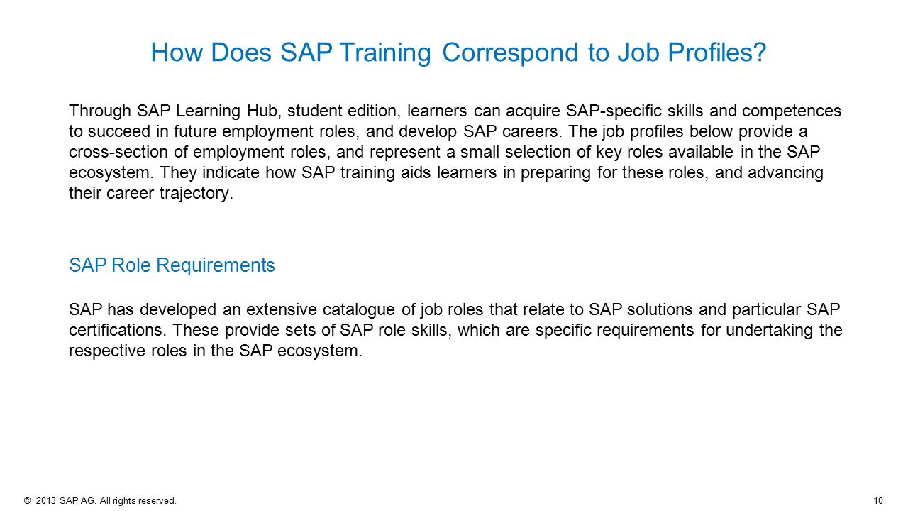 SAP Learning Hub – Student Edition - ppt video online download