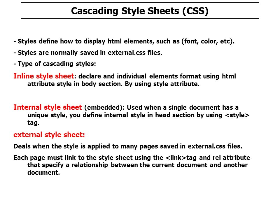 CSS = Styles and Colors