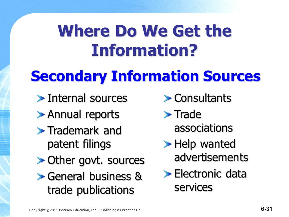 internal sources of financial data Sources of information in fraud investigations when you think of information in an internal fraud investigation, you most likely think of things like a company's internal to look beyond just search engine data sources that specialize in certain types of information can sometimes be.