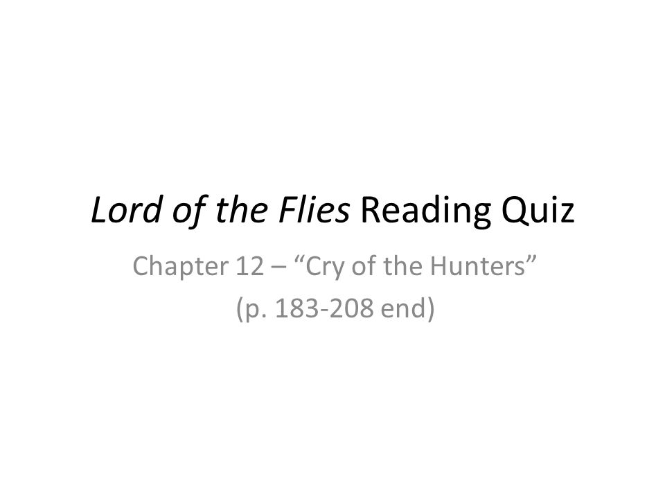 lord of the flies courage