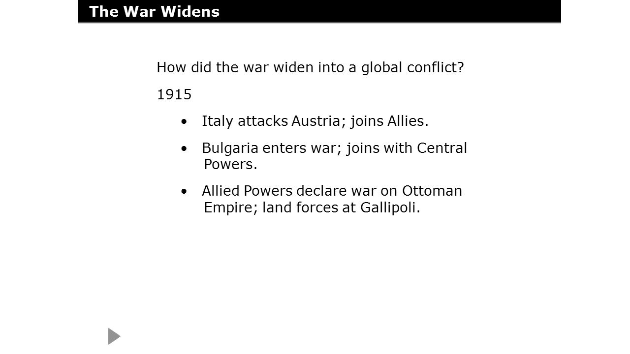 worksheet A Global Conflict Worksheet Answers chapter 14 world war i and the russian revolution ppt video online 11 the