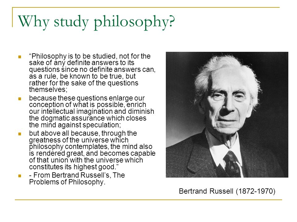 The Benefits of Studying Philosophy