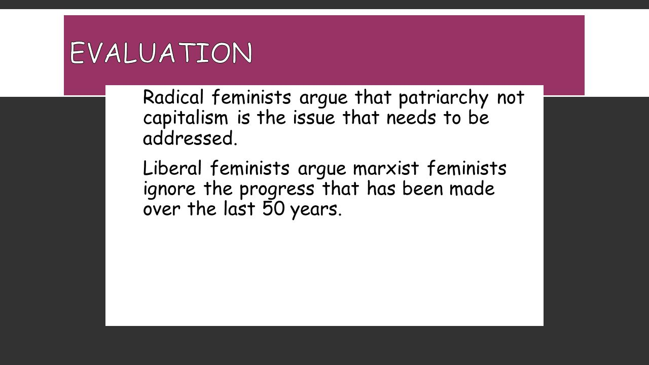 issues with radical feminism Sure, it would have been nice if, during the interview, a deep discussion of what radical feminism has meant historically could have been had, as well as a discussion of the complex problems.