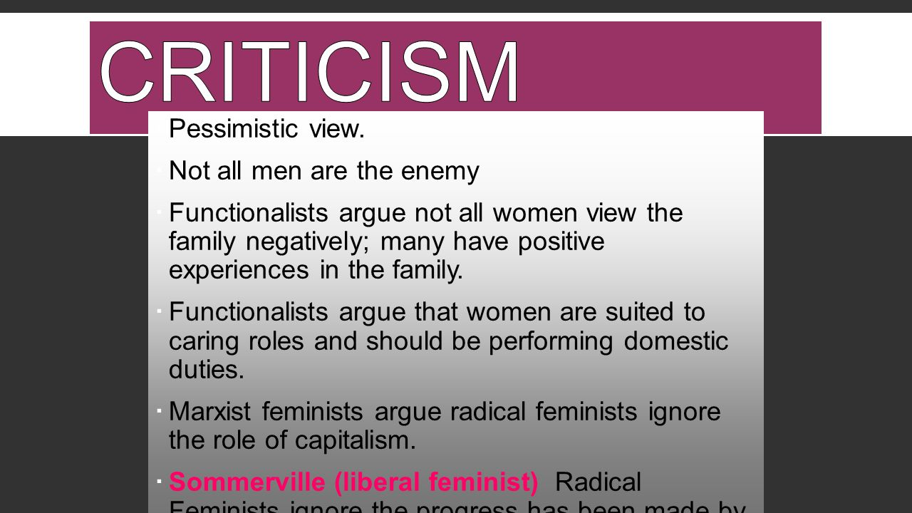 the different critiques of liberal feminism 2017-12-13 can #metoo go beyond white neoliberal feminism who can say #metoo and who will be heard  notwithstanding the strength of the different critiques,.