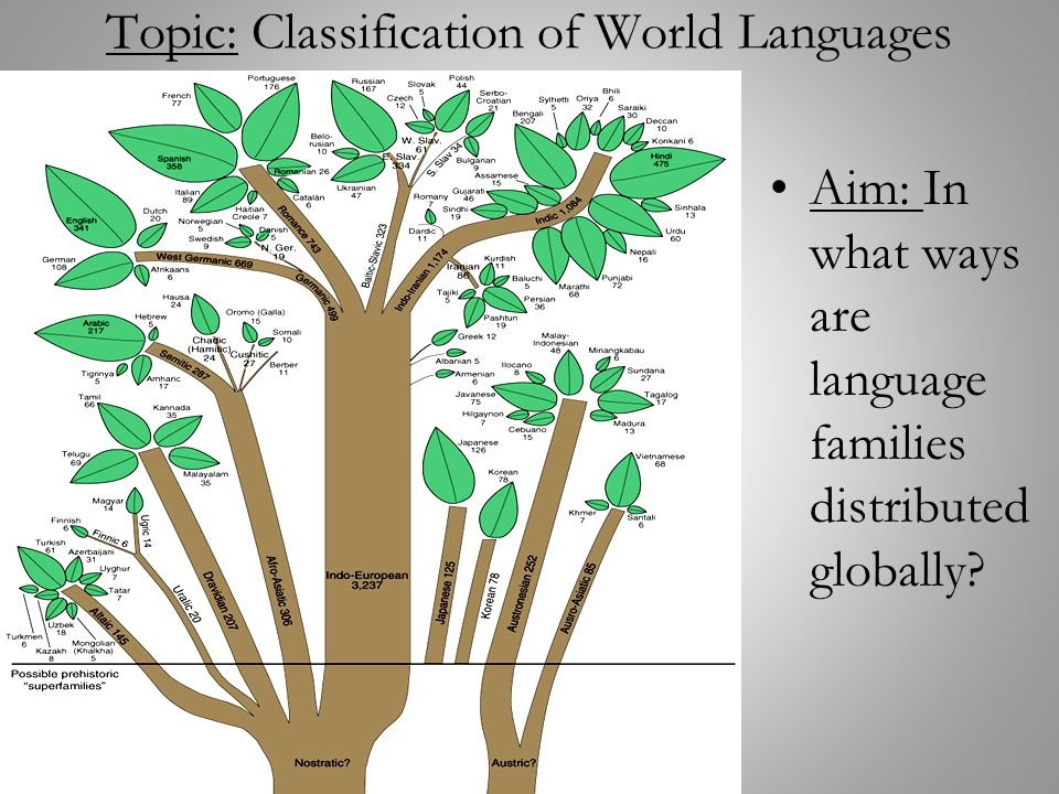 Topic Classification Of World Languages Ppt Video Online Download - 1 world language