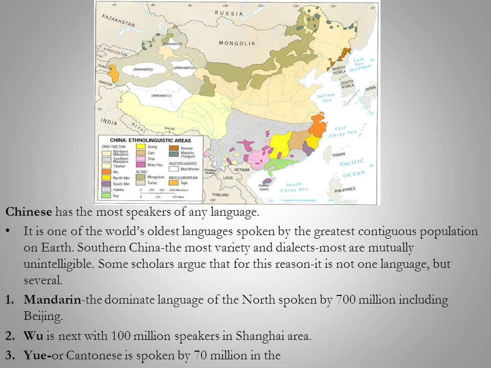 Topic Classification Of World Languages Ppt Video Online Download - Language with most speakers