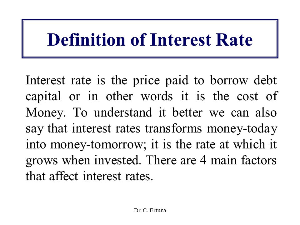 Determination of interest rates ppt video online download for Terest definition