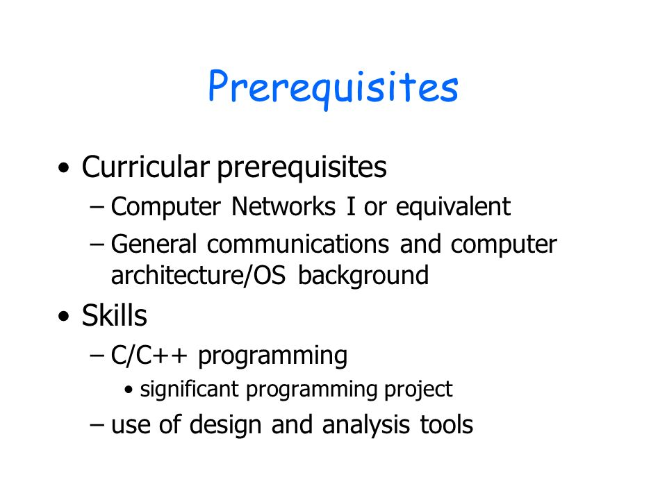 ECE Communication NetworksII Spring Ppt Video Online Download - Architecture prerequisites