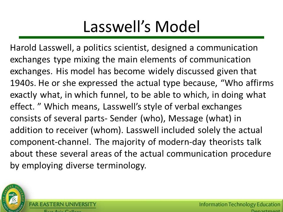 Types of communication and communication model ppt video online 17 lasswells ccuart Gallery