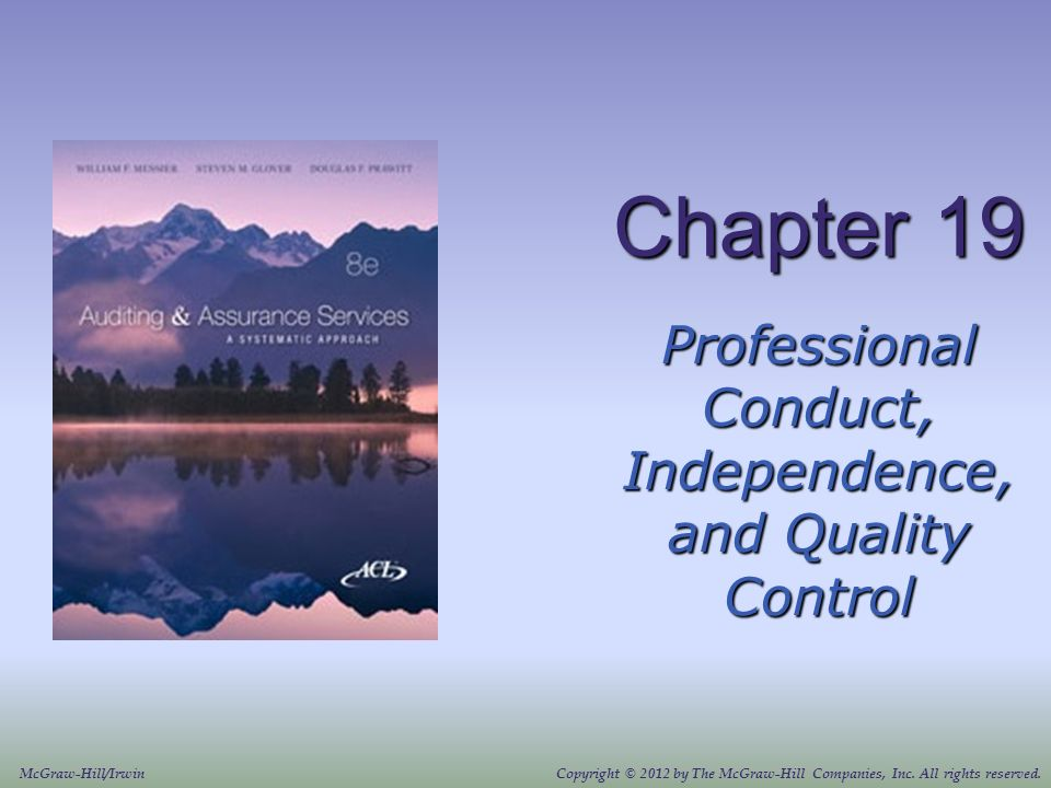 Professional Conduct Independence And Quality Control