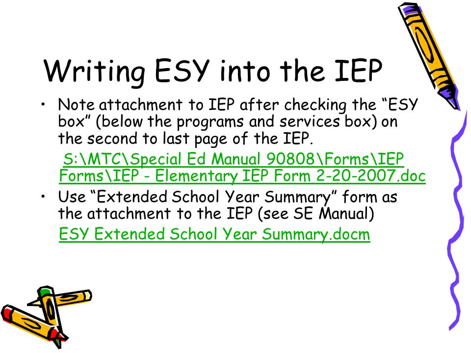 Using Data to Determine Extended School Year - ppt video online ...