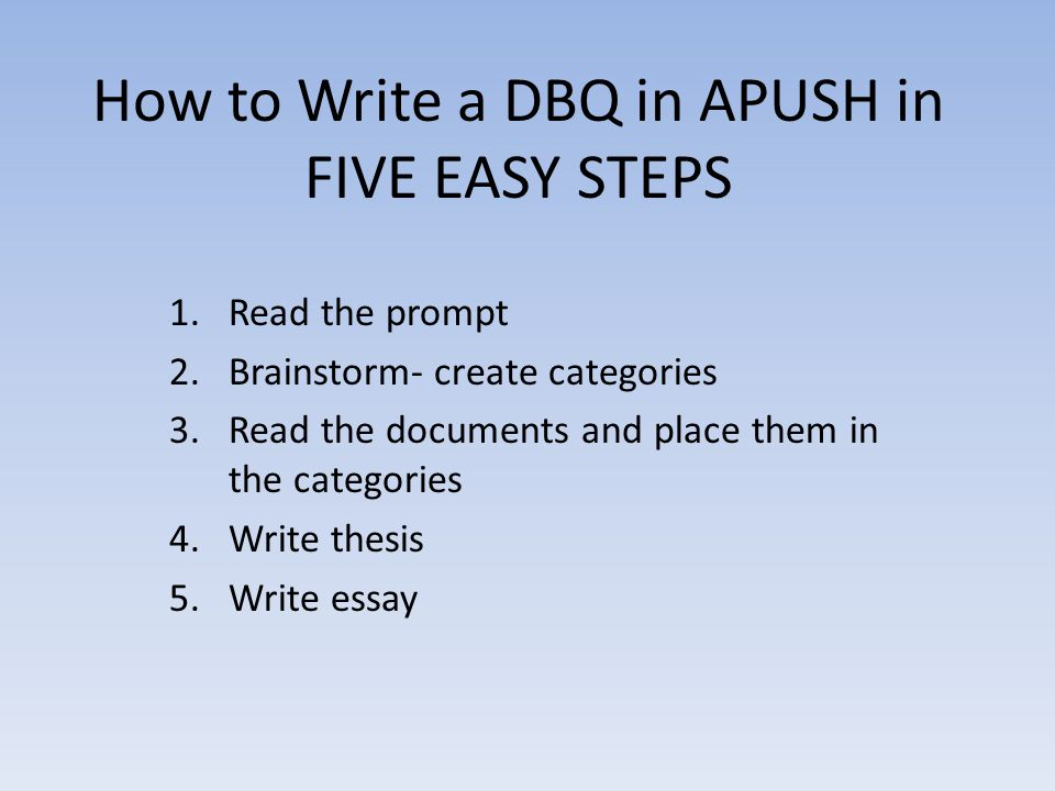 a guide to writing dbq Powerpoint Presentation