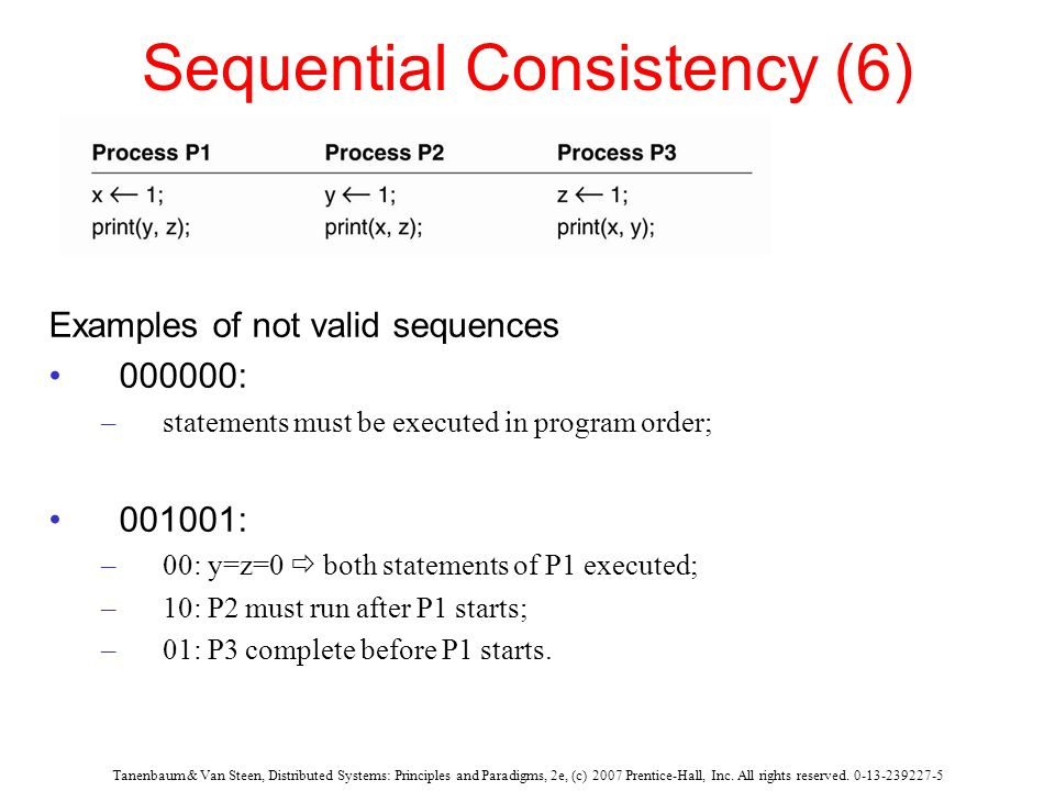Sequential Consistency (6)