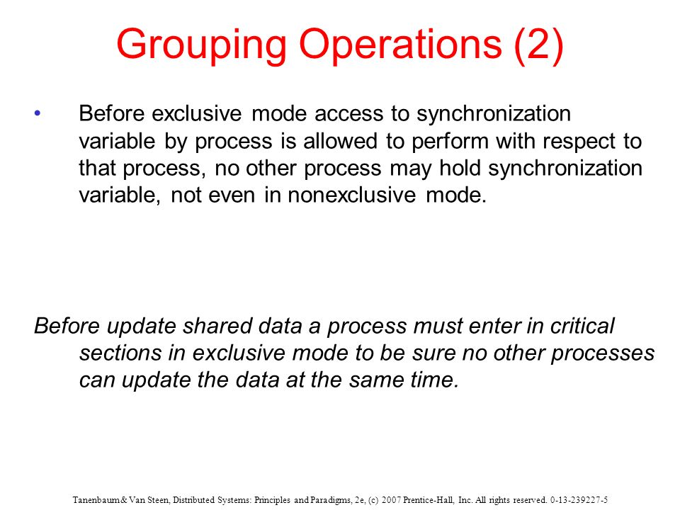 Grouping Operations (2)