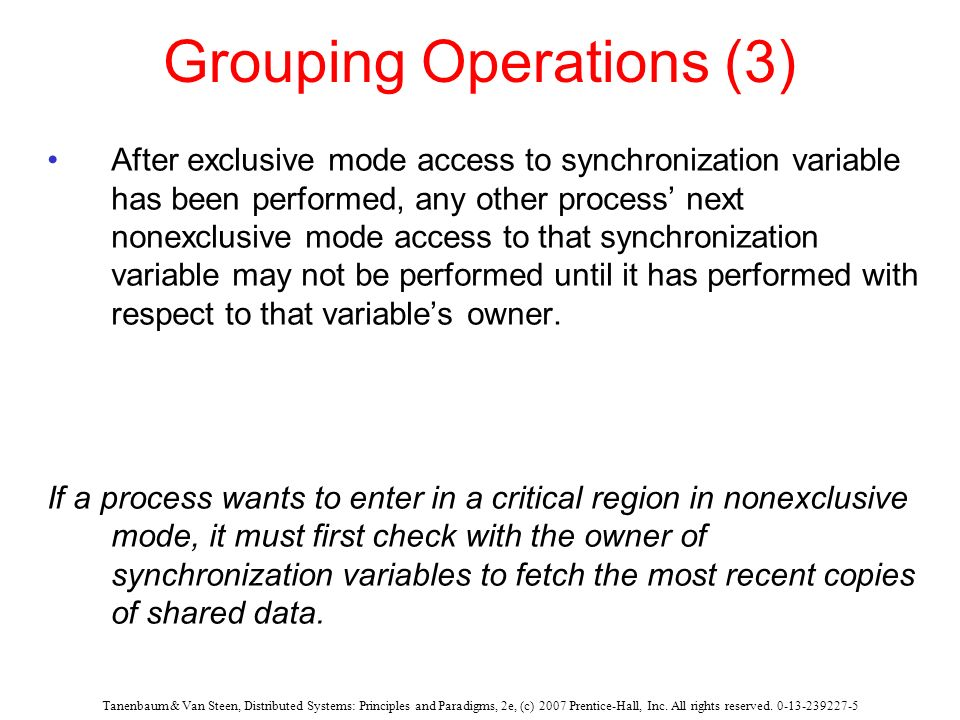 Grouping Operations (3)