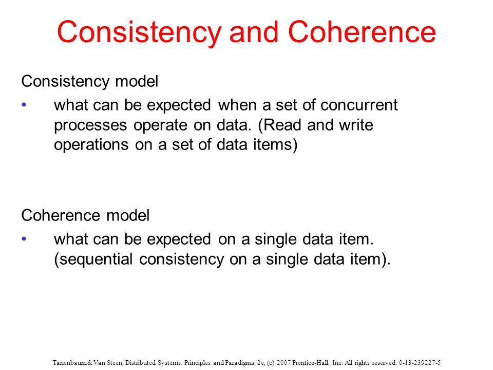 Consistency and Coherence