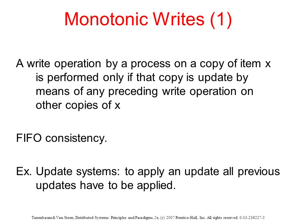 Monotonic Writes (1)