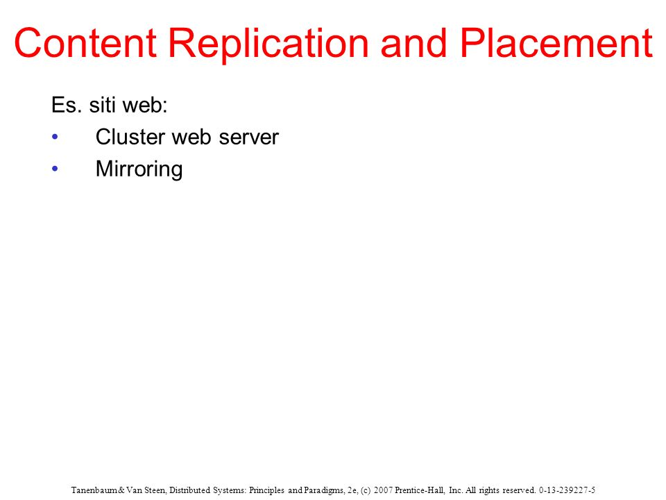 Content Replication and Placement