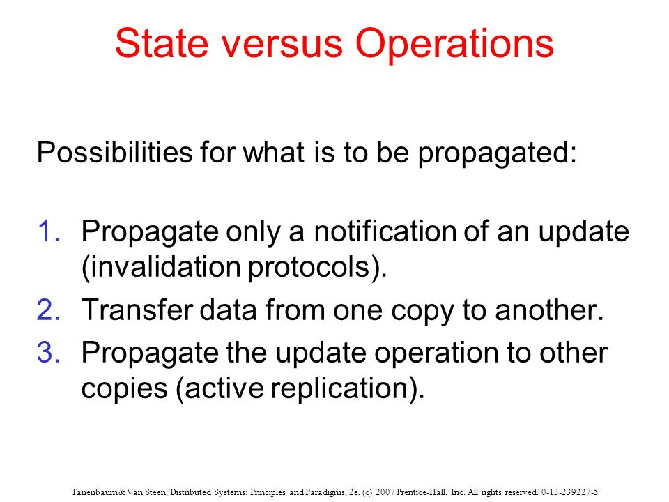 State versus Operations
