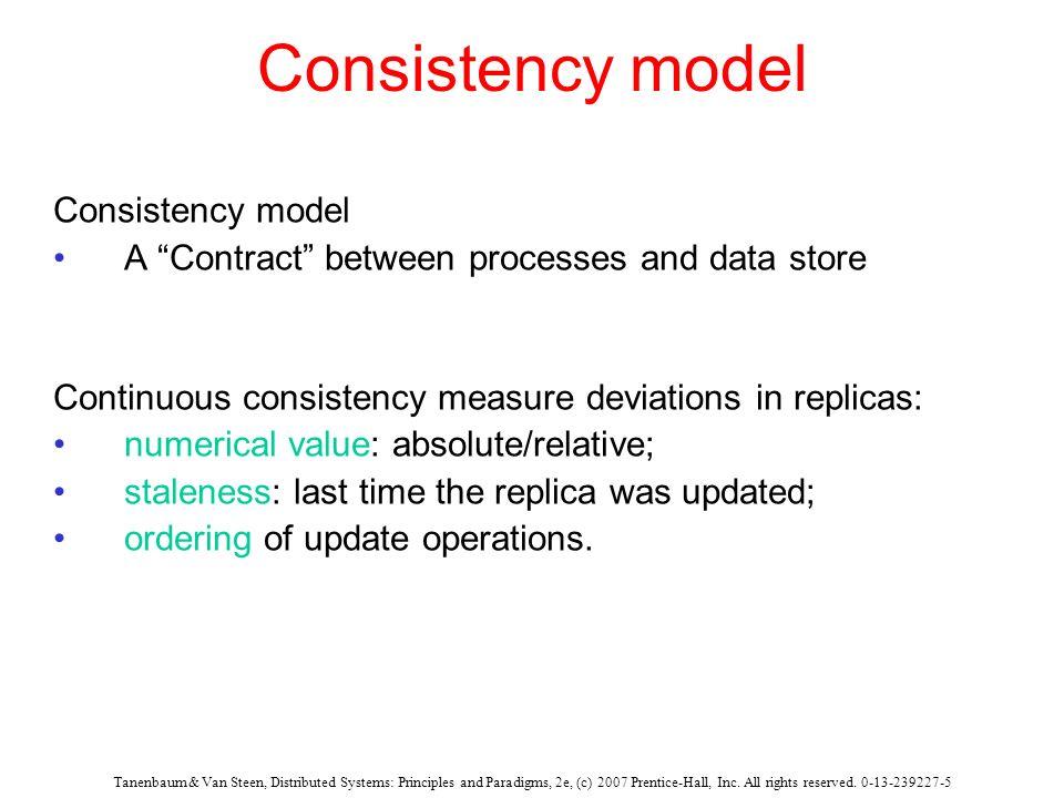 Consistency model Consistency model