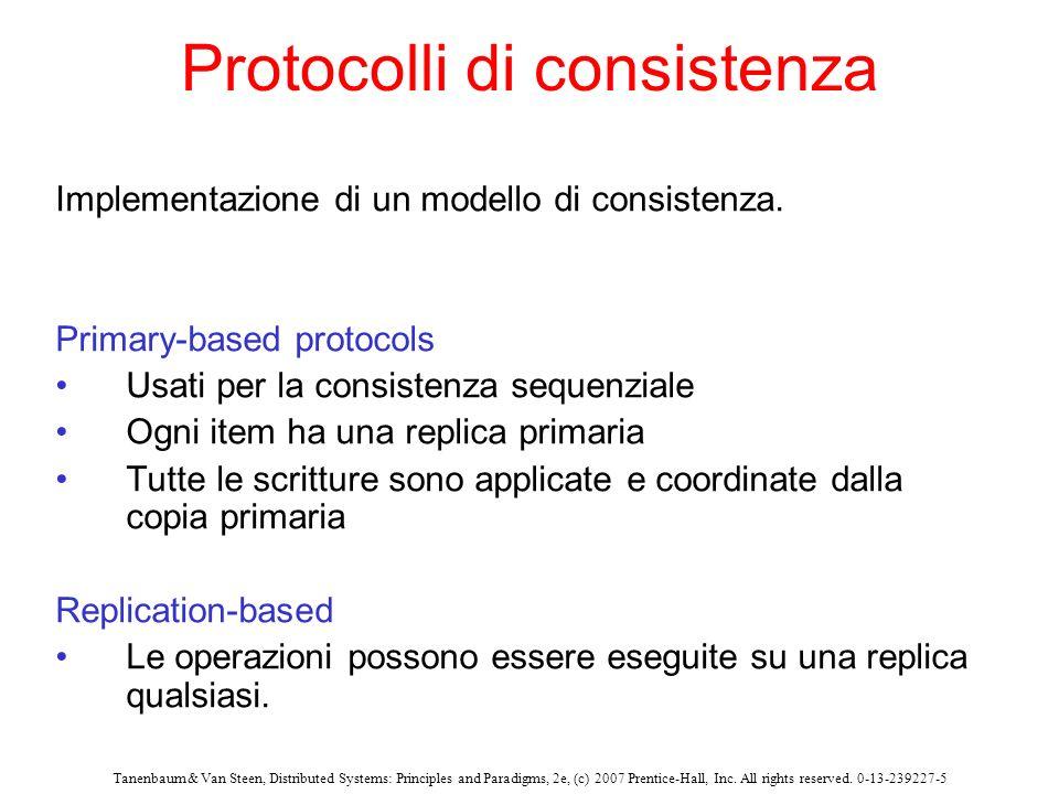 Protocolli di consistenza