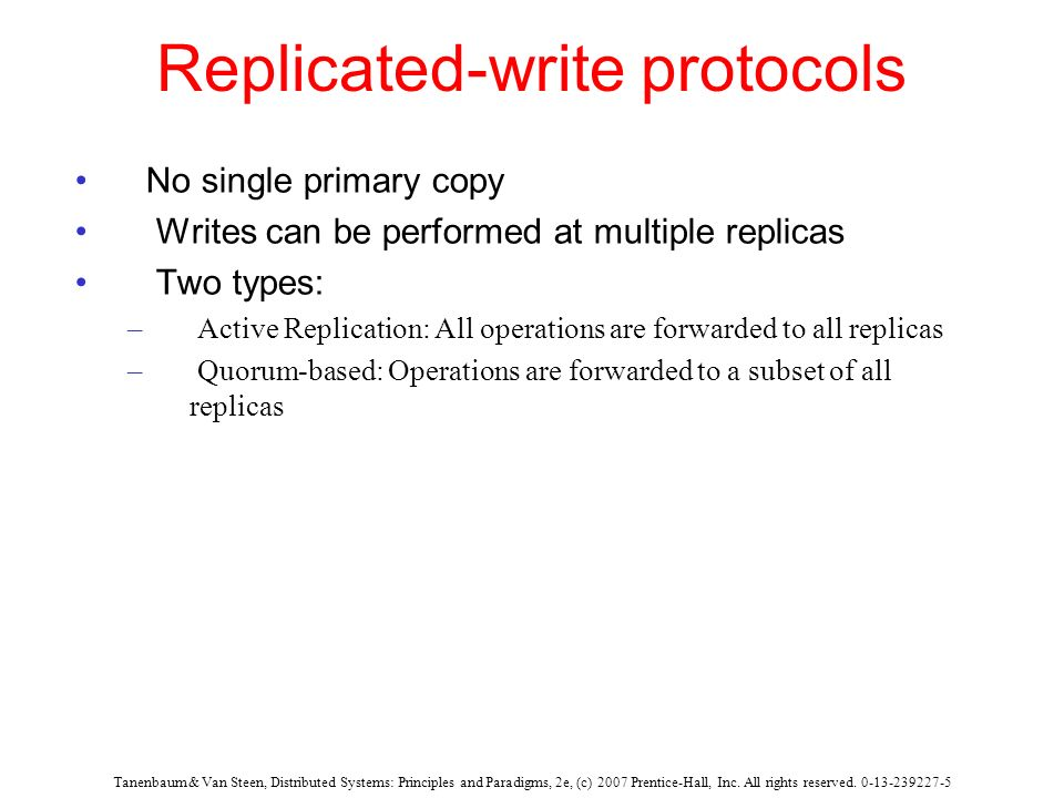 Replicated-write protocols