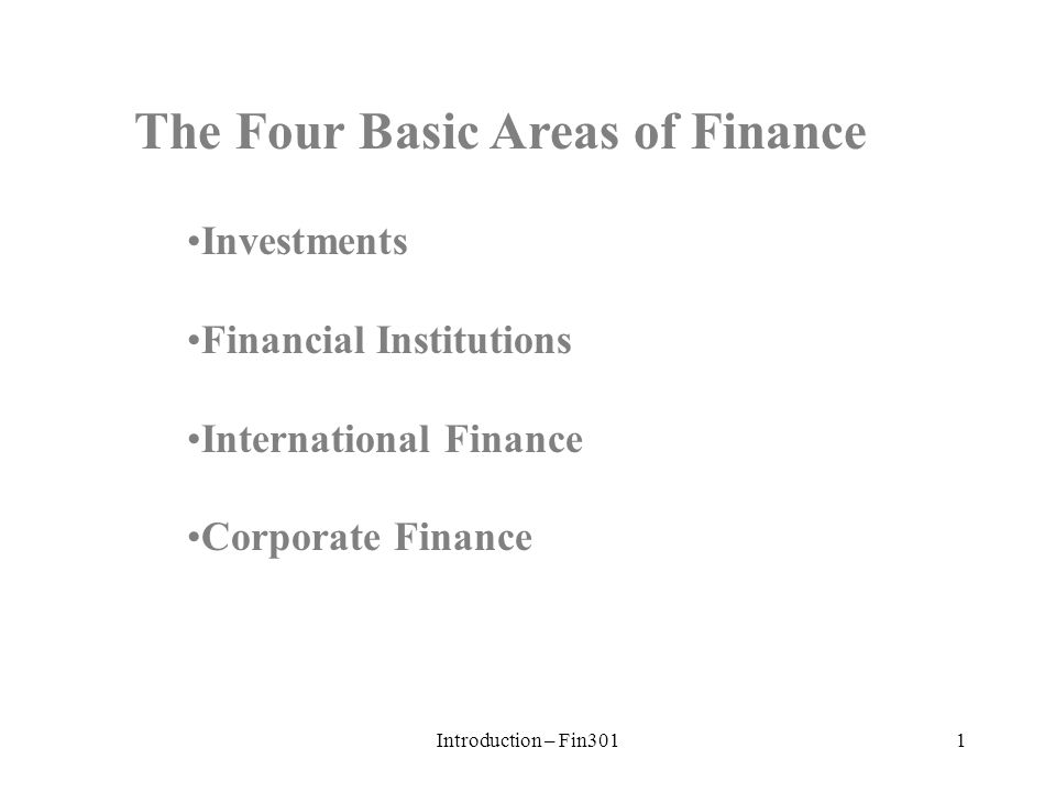 what are the four basic areas of finance This guide provides government policy on basic service provision in the areas of the first four are covered in other free basic services and the.