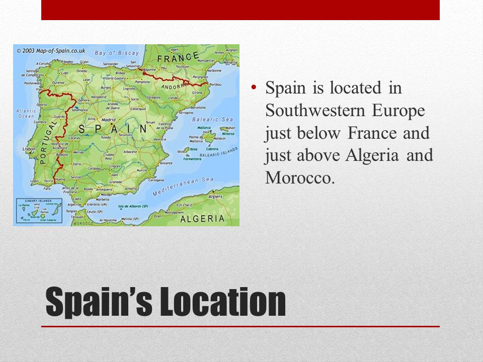 Spain Erica Ppt Video Online Download - Where is spain located