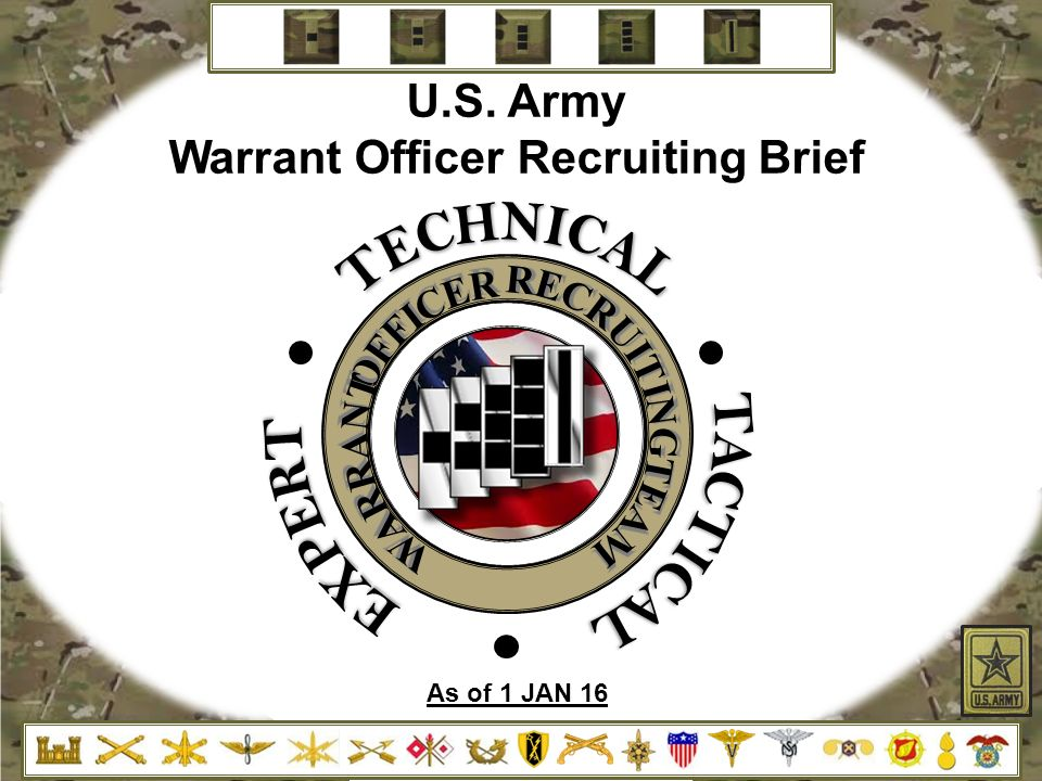 Warrant Officer Recruiting Brief