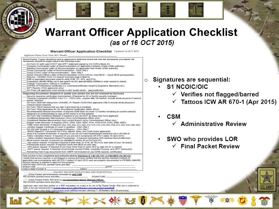 Warrant Officer Recruiting Brief - ppt download
