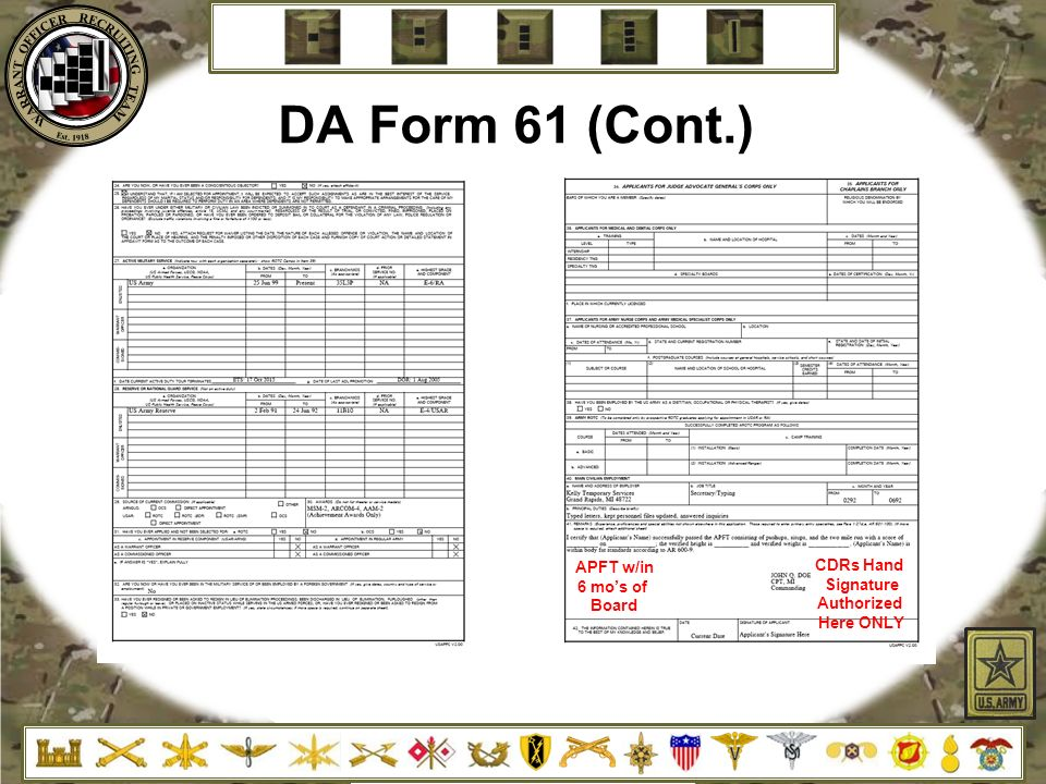Dd Form 61 Tekil Lessecretsdeparis Co