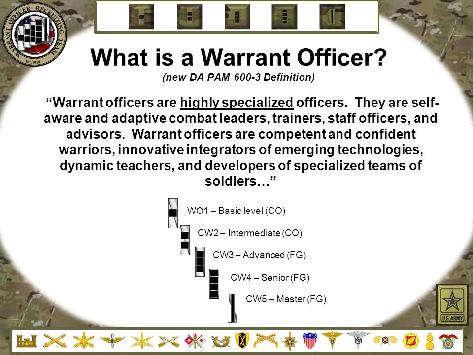 Superb What Is A Warrant Officer (new DA PAM 600 3 Definition)