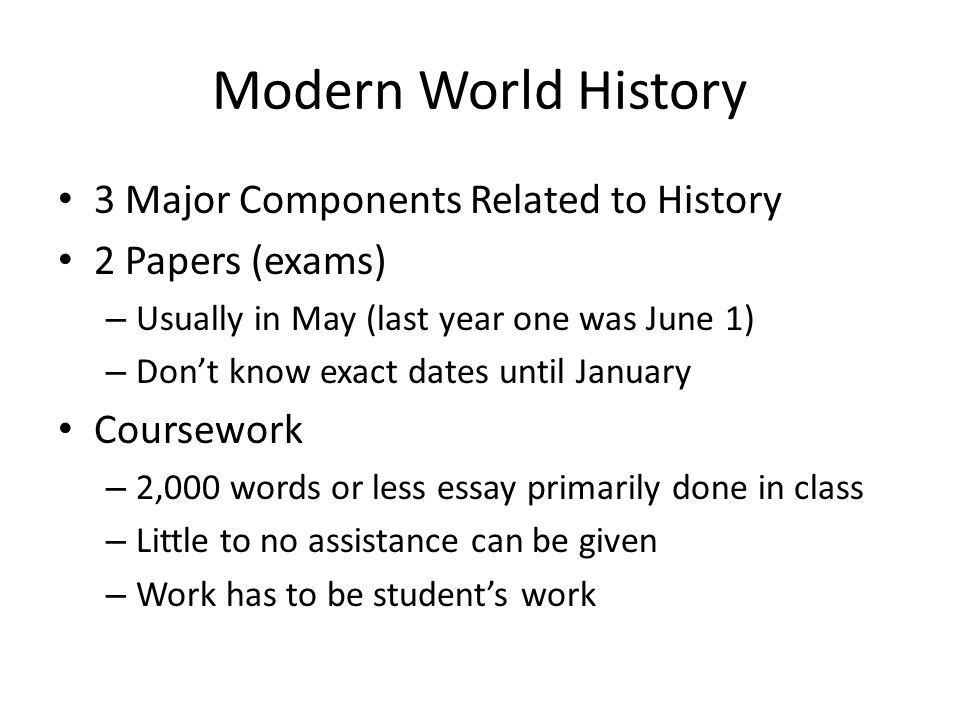 components history essay The five-paragraph essay is a form of essay having five paragraphs: one introductory paragraph discuss the history and use of essays in education.