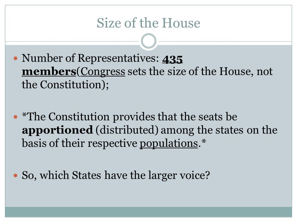 The House of Representatives - ppt download
