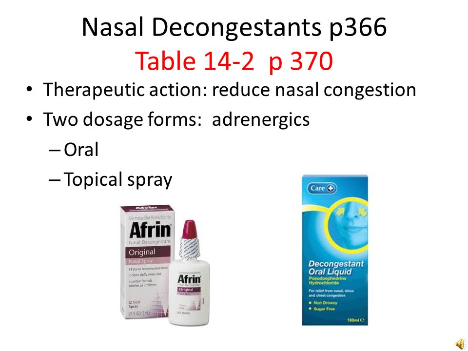 Antihistamines and Nasal Decongestants - ppt download