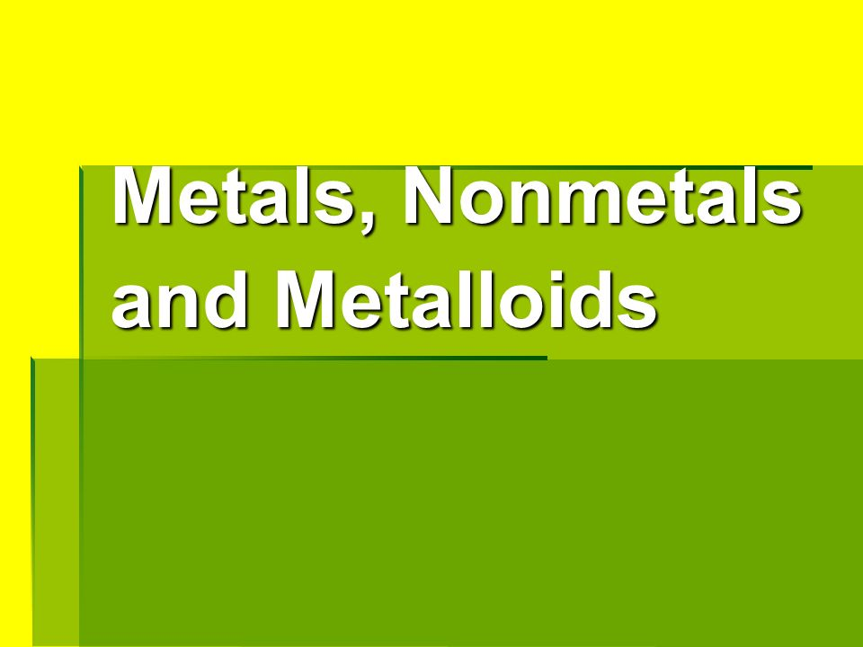 Metalloids examples