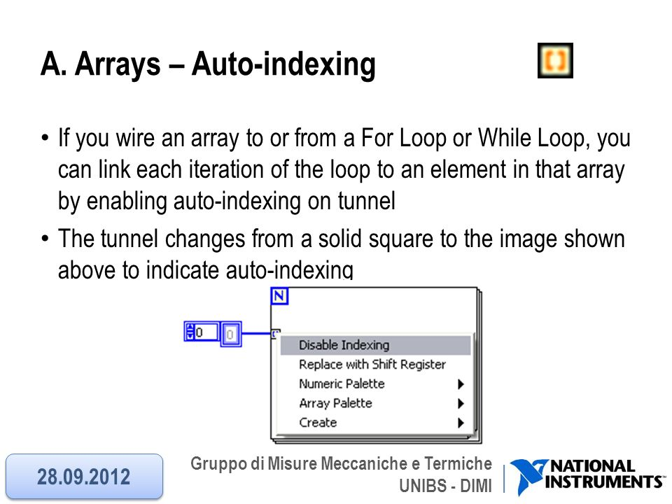 A. Arrays – Auto-indexing