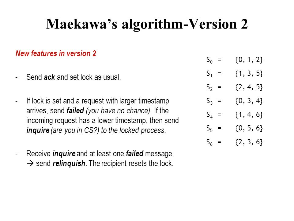 Maekawa's algorithm-Version 2